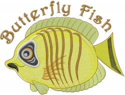 Butterfly Fish embroidery design