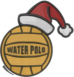 Water Polo Christmas embroidery design