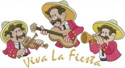 Viva La Fiesta embroidery design