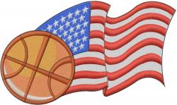 American Basketball embroidery design
