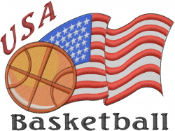 USA Basketball embroidery design