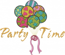 Party Time embroidery design