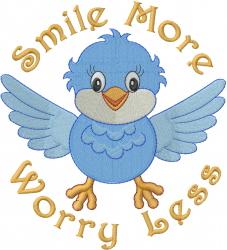 Smile More embroidery design