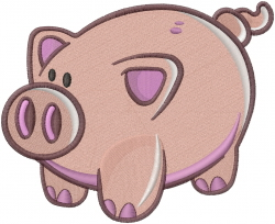 Piggy embroidery design