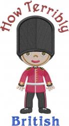 British Guard Terribly British embroidery design