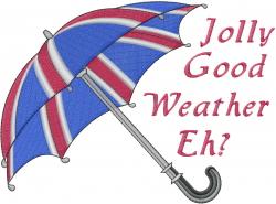 British Umbrella embroidery design