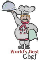 Worlds Best Chef embroidery design
