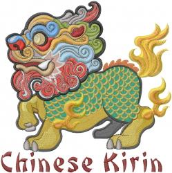 Chinese Kirin embroidery design