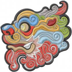 Chinese Kirin Head embroidery design