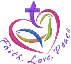 Faith, Love, Peace embroidery design