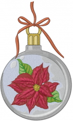 Christmas Poinsettia Ornament embroidery design