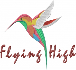 Flying High Hummingbird embroidery design