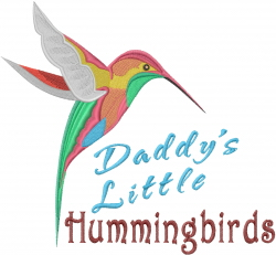Daddys Little Hummingbirds embroidery design