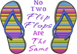 No Two Flip Flops embroidery design