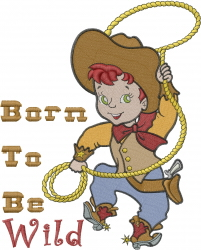 Born To Be Wild embroidery design