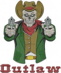 Cowboy Skeleton Outlaw embroidery design