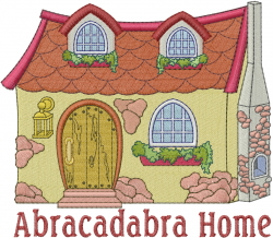 Abracadabra Home embroidery design