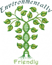 Ecology Environmentally Friendly embroidery design