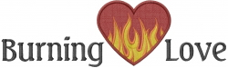 Burning Love embroidery design