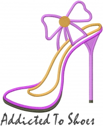 Addicted To Shoes Applique embroidery design