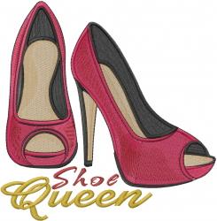 High Heels Shoe Queen embroidery design