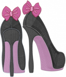 High Heels With Bows embroidery design