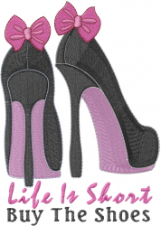 High Heels Life Is... embroidery design