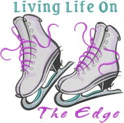 Ice Skates Living Life... embroidery design