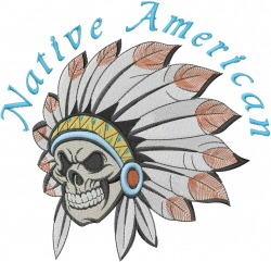 Indian Headdress Native American embroidery design