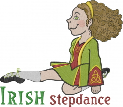 Irish Stepdance Girl embroidery design