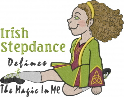 Irish Dancing Girl Magic embroidery design