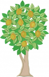 Lemon Tree embroidery design