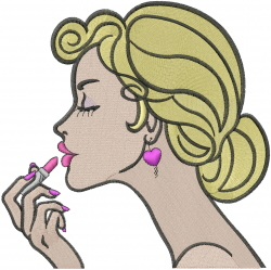 Makeup Beauty embroidery design