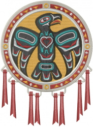 Native American Eagle Drum embroidery design