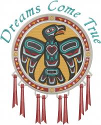 Dreams Come True Eagle embroidery design