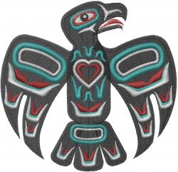 Native American Eagle embroidery design