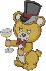 Groom Bear embroidery design