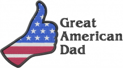Great American Dad embroidery design