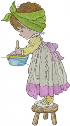 Little Girl Baking embroidery design