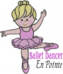 Ballerina Girl embroidery design