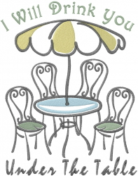Café Umbrella  embroidery design