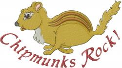Running Chipmunk  embroidery design