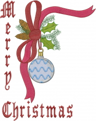 Christmas Ornament Border embroidery design