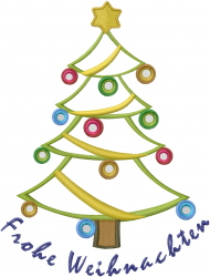 Christmas Tree Outline  embroidery design