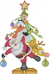 Character Christmas Tree embroidery design