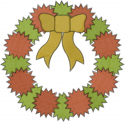 Christmas Wreath embroidery design