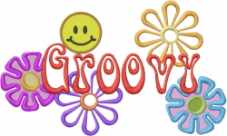 Groovy Flowers embroidery design