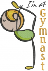 Gymnastics Stick Girl  embroidery design