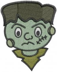 Halloween Frankenstein embroidery design