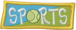 Hobby Caption - Sports embroidery design